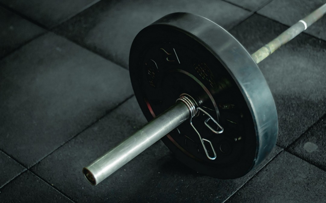 Barbell with weights on it after smoking cannabis