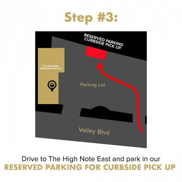 Curbside Pick Up Instructions The High Note East LA - Text Confirmation