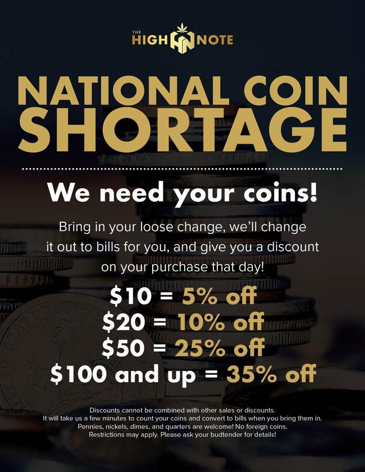 national coin shortage